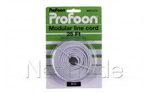 Profoon - Cable de connexion, blanc 7,6m. mod-k76 - MODK76