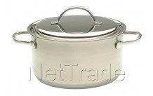 Demeyere - Resto casserole avec couvercle 22 cm  4 l - 80022