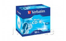 Verbatim cd-r audio 80 min color 10pcs - 43365