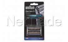 Braun - Cassette de rasage - serie 3 - 32s - silver - 81483732