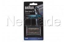 Braun - Cassette de rasage  - serie 3 - 32b  - noir - 81483728