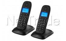 Topcom - Téléphone sans fil dect - combiné jumeau noir répertoire - identification del'appelant - TE5732
