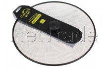 Crealys - Couvercle anti projection inox,diam 29 cm bouchon bakelite - 512741
