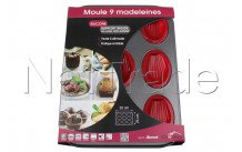 Crealys - Moule 9 madeleine en silicone et acier sweet 24 x 32cm - 511901