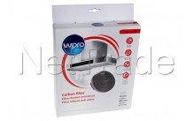 Wpro - Filtre à charbon type 34 (ø255 x 40 mm) - antibact - 484000008610